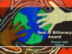 Seal of Biliteracy Award