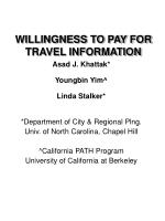 WILLINGNESS TO PAY FOR TRAVEL INFORMATION