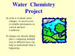 Water Chemistry Project