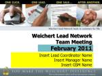 Weichert Lead Network Team Meeting February 2011