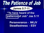 The Patience of Job