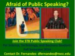 Afraid of Public Speaking?