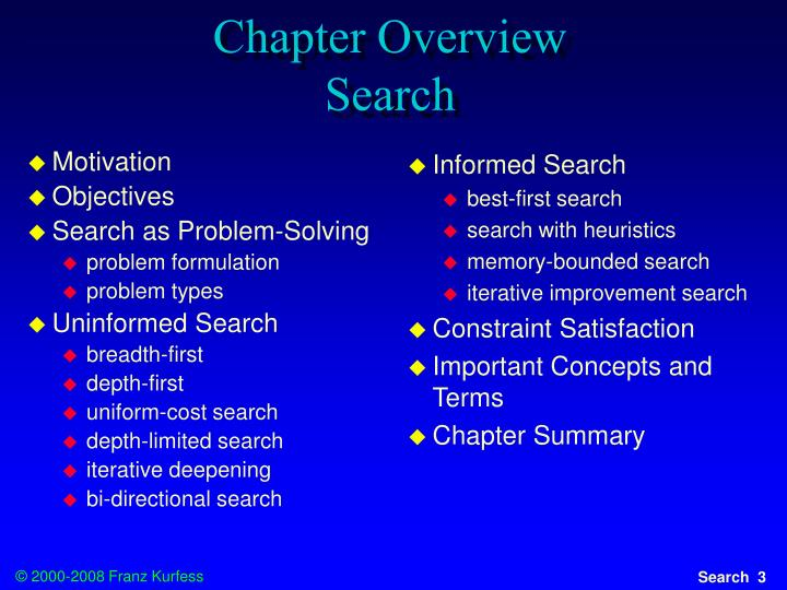 chapter overview search n.