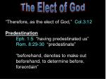 The Elect of God