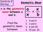 Find the geometric mean between: