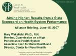 Aiming Higher: Results from a State Scorecard on Health System Performance