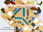 Strategy-making Approaches