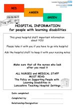 This gives hospital staff important information  about YOU