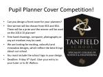 Pupil Planner Cover Competition!