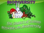 The impact of human activities on Biodiversity