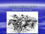 Buffalo Soldiers on the Western Frontier