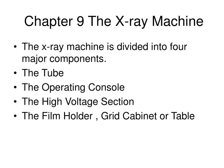 chapter 9 the x ray machine n.