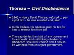 Thoreau – Civil Disobedience