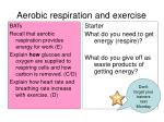 Aerobic respiration and exercise