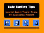 Safe Surfing Tips