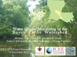 Water Quality Monitoring in the Bayou Teche Watershed