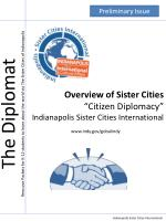 """Overview of Sister Cities """"Citizen Diplomacy"""" Indianapolis Sister Cities International"""