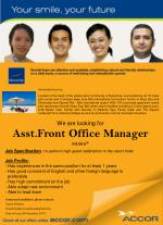 We are looking for  Asst.Front Office Manager 83585*
