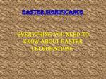 Easter Significance