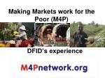 Making Markets work for the Poor (M4P)