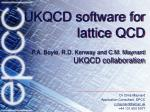 UKQCD software for lattice QCD