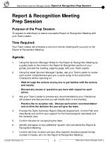 To prepare to effectively co-lead a successful Report & Recognition Meeting with your Team Leader.