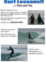 Surf Lessons!!