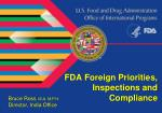 FDA Foreign Priorities, Inspections and Compliance