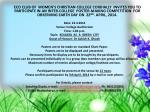 Invitation for Earth Day programme of WCC 2014 25 97 2003