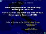From mapping faults to delineating seismogenic sources: