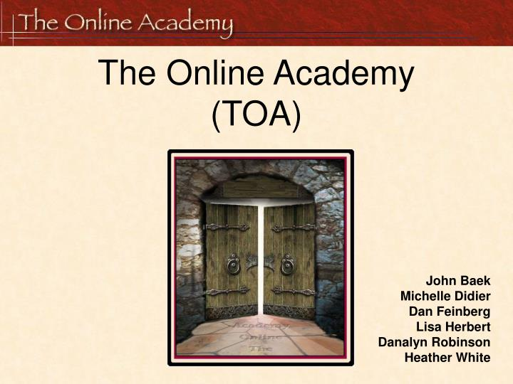 the online academy toa n.
