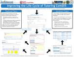 Improving the Life Cycle of Tutoring Content