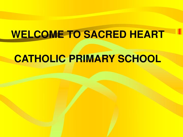 welcome to sacred heart catholic primary school n.