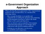 e-Government Organization Approach