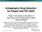 Antiepileptic Drug Selection for People with HIV/AIDS