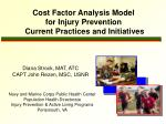 Cost Factor Analysis Model  for Injury Prevention  Current Practices and Initiatives