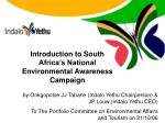 Introduction to South Africa's National Environmental Awareness Campaign