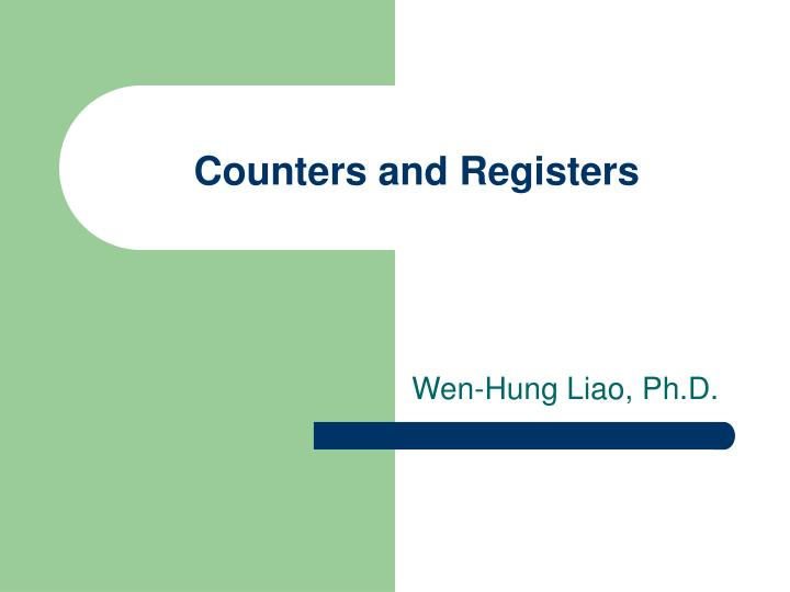 counters and registers n.