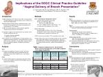 """Implications of the SOGC Clinical Practice Guideline, """"Vaginal Delivery of Breech Presentation"""""""