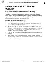 Purpose of the Report & Recognition Meeting