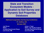 National Cooperative Soil Survey Conference Ft. Collins, CO 28 June 2001