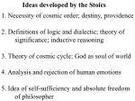 Ideas developed by the Stoics