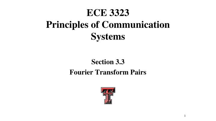 ece 3323 principles of communication systems n.