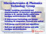 Microelectronics & Photonics Technology Group