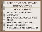 SEEDS AND POLLEN ARE REPRODUCTIVE ADAPTATIONS