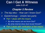 Can I Get A Witness John 5:31-47