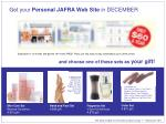 Get your Personal JAFRA Web Site in DECEMBER and choose one of these sets as your gift!