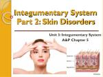 Integumentary System Part 2: Skin Disorders