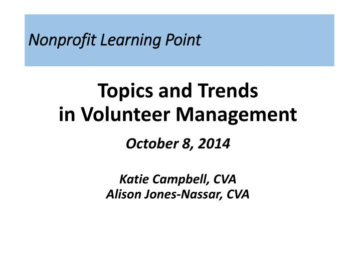 PPT - Nonprofit Learning Point PowerPoint Presentation - ID
