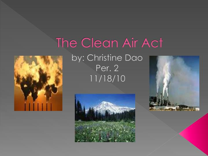 the clean air act n.